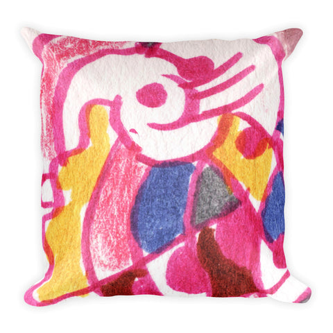 Pop Abstraction - Sketchy Square Pillow