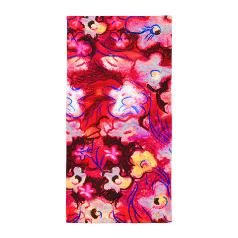 Pastel Flowers Beach Towel