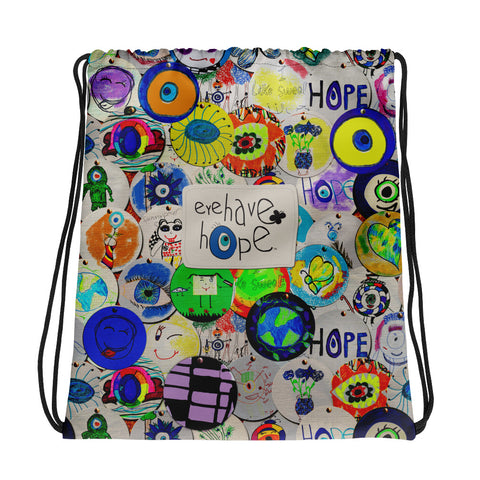 Eye Have Hope Drawstring bag