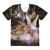 Masquerade Fairy by Amanda Magick Sublimation women's crew neck t-shirt