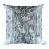 Paris METRO Couture: Weave All Over Square Pillow-Ice Blue - ParisMETROCouture.com