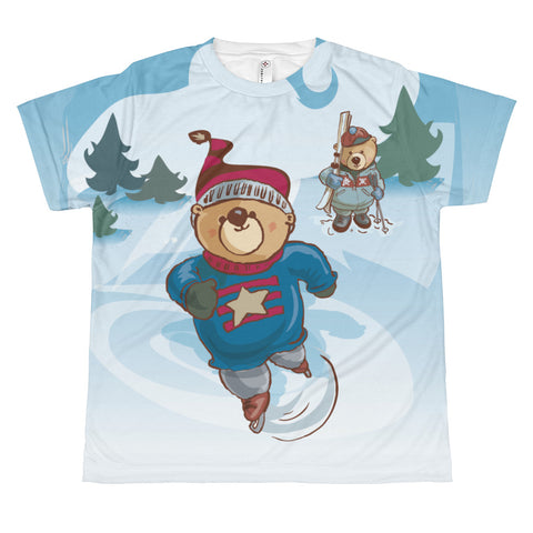 Madison Bear - Ice Skaters All-over youth sublimation T-shirt