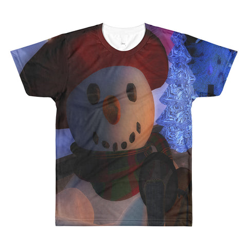 Happy Snowman All-Over Printed T-Shirt