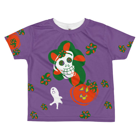 Paris METRO Couture: Many Ghosts Dance Kids T-Shirt-Purple - ParisMETROCouture.com
