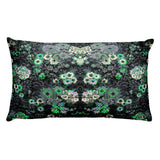Boho Vintage Floral Gray Green Beautiful Rectangular Pillow