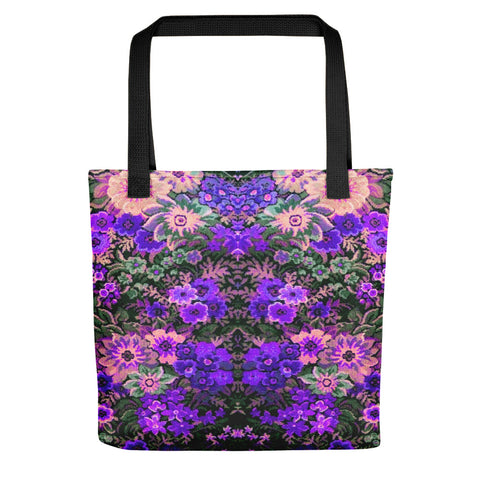 Boho Flower Field Purple Tote Bag Exclusive Original Art