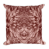 Abstraction Petal in Pinks Square Pillow