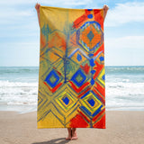 Aztec Sketch Towel