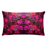 Boho Vintage Fuschia Beautiful Rectangular Pillow