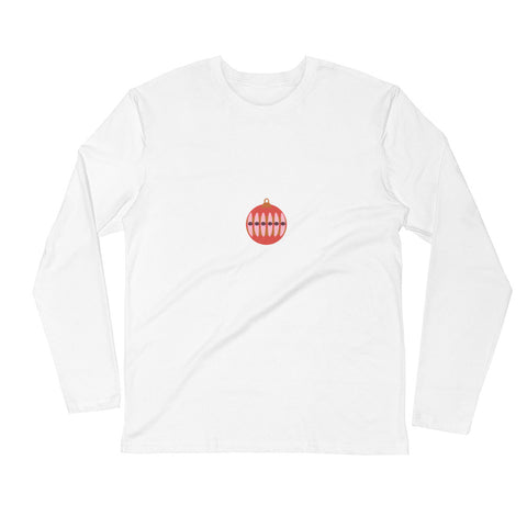 Modern Ornament Long Sleeve Fitted Crew