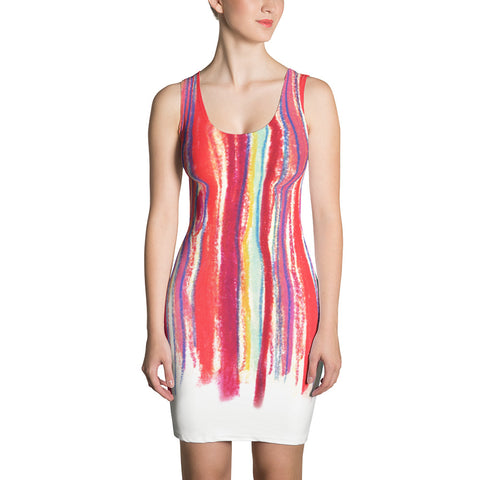 Paris METRO Couture: Draw A Line Dress on White - ParisMETROCouture.com