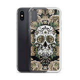 Sugar Skull - Vintage Natural Tones Cell Phone Case - Fits iPhone X and Other Sizes 5-X