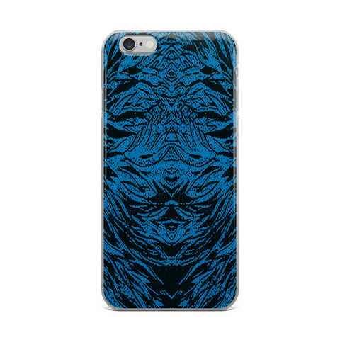 Abstraction Petal - Blue Cell Phone Case - Fits iPhone X
