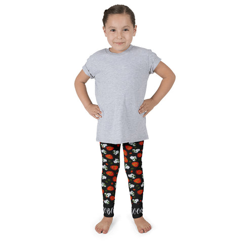 Paris METRO Couture: Pumpkins & Sugar Skulls Kid's Leggings-Black - ParisMETROCouture.com