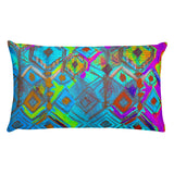 Crystal Rain - Sea Tones Rectangular Pillow