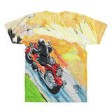 Paris METRO Couture: Biker Bucky Rides -All-Over Printed T-Shirt