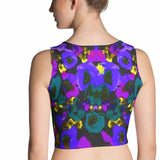 Paris METRO Couture: Posie Flower Blues Crop Top