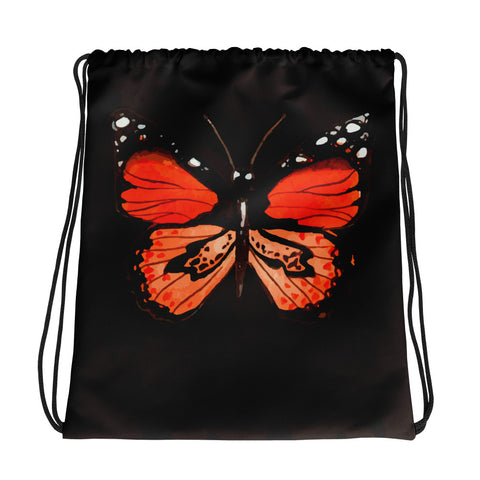 Wild Butterfly Drawstring bag