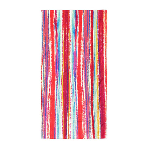 Pastel Stripe Beach Towel