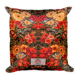Boho Vintage Red Beautiful Square Pillow