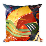 Abstraction Wave Square Pillow