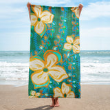 Hawaiian Vintage Seaweed Green Beach Towel