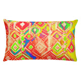 Crystal Rain - Peach Rectangular Pillow