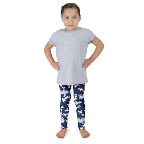 Paris METRO Couture: Many Ghosts Dance Kid's Leggings-Peony - ParisMETROCouture.com