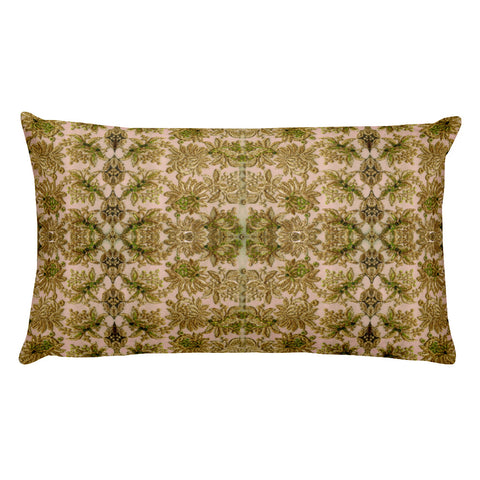 French Lace in Leaf Green Rectangular Pillow