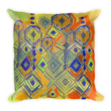 Crystal Rain - Earth Tones Square Pillow
