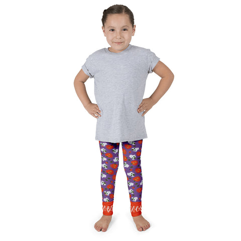 Paris METRO Couture: Pumpkins & Sugar Skulls Kid's Leggings-Purple - ParisMETROCouture.com