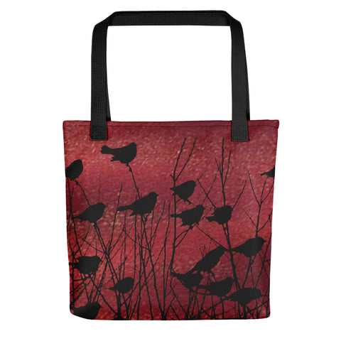 Shadow Birds in Port Tote Bag Exclusive Original Art