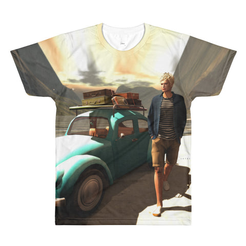 The Illustrative Art of Satus, Traveler, All-Over Printed T-Shirt