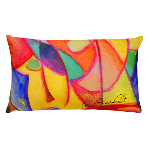 Abstraction Beach by R. Freeland Rectangular Pillow