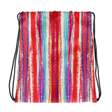 Pastel Stripe Drawstring bag