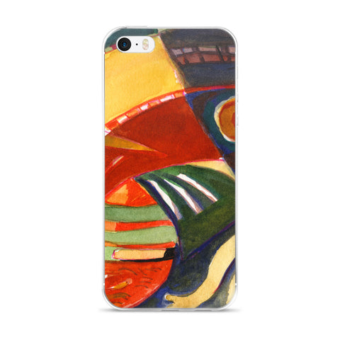 Abstraction Wave 2- iPhone Case-Cell Phone Case - Fits iPhone X and Other Sizes 5-X