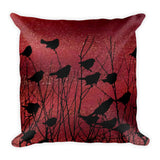 Shadow Birds on Port - Square Pillow