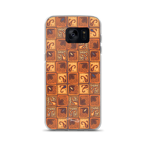 Hawaiian Wood Block Browns Samsung Case