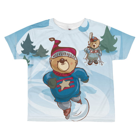 Madison Bear - Skaters All-over kids sublimation T-shirt