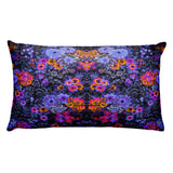 Boho Vintage Floral Blue Orange Beautiful Rectangular Pillow