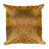 On My Way Little Flower Square Pillow - Gold