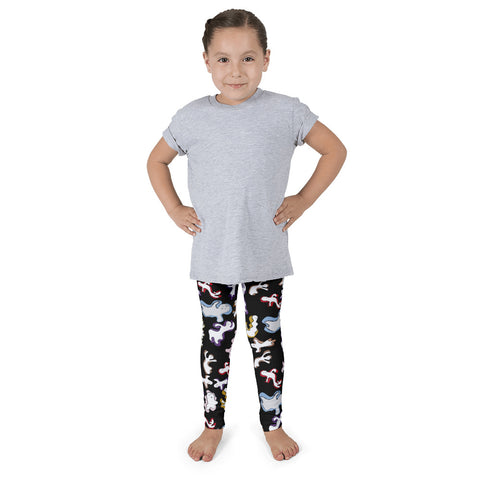 Paris METRO Couture: Many Ghosts Dance Kid's Leggings-Black - ParisMETROCouture.com