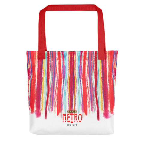 Paris METRO Couture: Draw A Line Tote bag - ParisMETROCouture.com