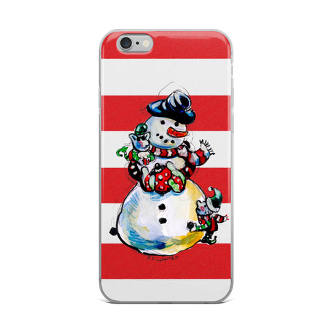 Snow Man by R. Freeland iPhone Case