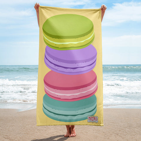 Macaroon Goodies Beach Towel