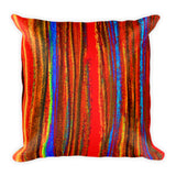 Pastel Stripe in Warm Colors Square Pillow
