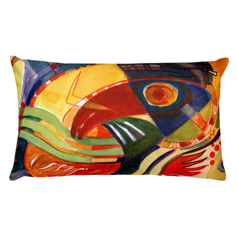 Abstraction Wave Rectangular Pillow