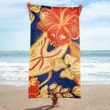 Hawaiian Vintage in Tropical Flowers Beach Towel