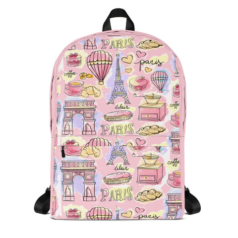 Paris METRO Couture: Cafe In Paris Backpack