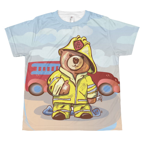 Madison Bear - Firefighter All-over youth sublimation T-shirt